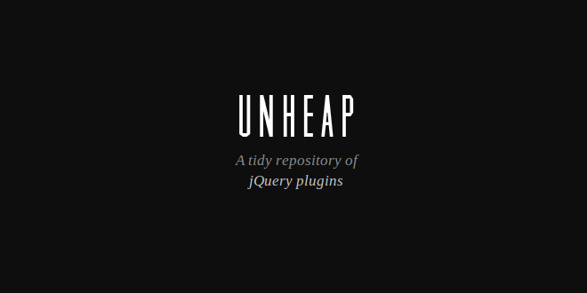 Unheap – A Tidy Repository of jquery plugins